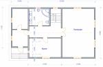 план первого этажа в коттедже  из бруса