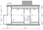 план второго этажа садового дома