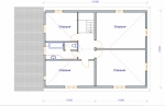 план мансардного этажа в большом доме