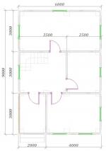 план 1 этаж 9х6