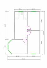 план второго этажа семейного брусового коттеджа