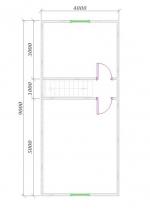 план 2 этажа 9х6