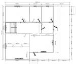План 1 этажа большого дома из бруса