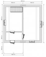 планировка первого этажа в доме из двух этажей