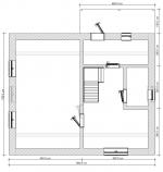 план 1 этаж дома