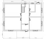 планировка 1 этажа дома из бетона
