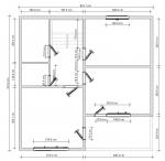 план брусового дома под крышу - 2 этаж