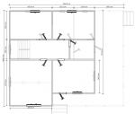План 2 этажа большого брусового дома