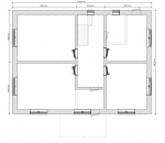 план второго этажа бетонного дома