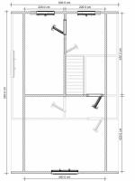 план верхнего этажа 9х6
