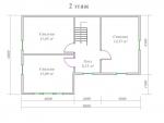 планировка второго этажа дома из бруса 7х12