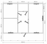 план одноэтажного дома 7,5х8