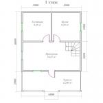 планировка первого этажа 8х6