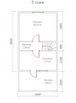 план дома 8х6 из бруса второй этаж