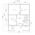 план первого этажа деревянного дома 8х10