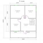 планировка мансарды в двухэтажном доме