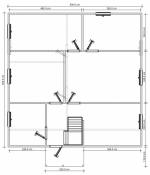 план первого этажа в двухэтажном коттедже