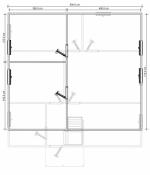 планировка мансардного этажа в доме из бруса