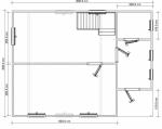план первого этажа 6х8