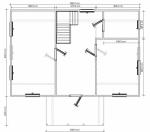 Планировка дома из бруса 8х9 первый этаж