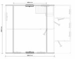 план второго этажа в деревянном доме 6х8