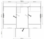 план мансарды со спальнями на втором этаже