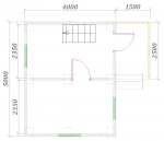планировка первого этажа 5х5,5