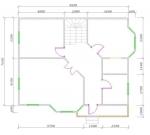 план 1 этажа дома 10 на 8