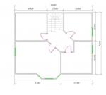 планировка мансардного этажа в доме для большой семьи