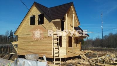 дом из бруса под крышу 7х7