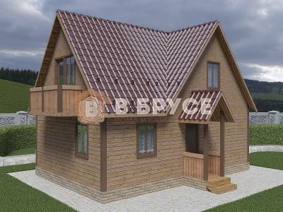 Многощипцовая крыша в двухэтажном доме