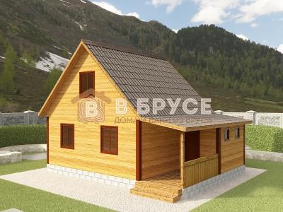 фото дома 6х8 из клееного бруса