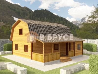 дом с большой верандой