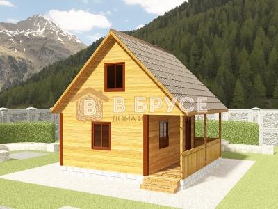 фото одноэтажного домика 6х6 с мансардой