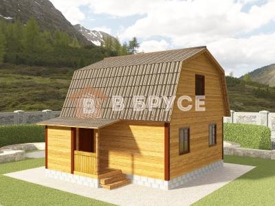фото одноэтажного дома с мансардой 6х7,5