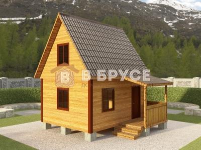 фото мансардного домика для дачи