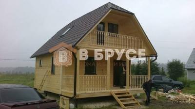 дачный дом 8х6 с отличной алвнировкой