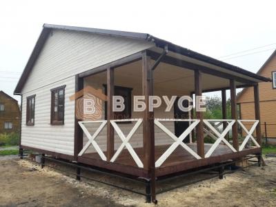 Одноэтажный дом из бруса терраса