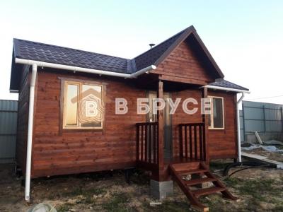 Одноэтажный дом 7х8 из бруса фото