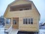 готовый большой дом из клееного бруса с мансардой 7х8