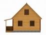 дом в профиль на белом фоне