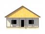 фасад с двухскатной крышей