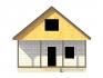 фасад дома с дверным проемом