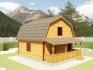 дом из бруса размером 7,5х6