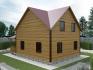 угловая сторона дома с нестандартной крышей