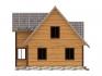 дом с 3 окнами на лицевой стороне