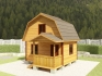 фото дачного домика с мансардой 5,5х5