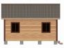 дом установлен на фундаментные блоки