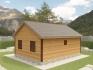 двускатная крыша одноэтажного домика
