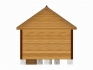 задняя стена бани с двухскатной крышей